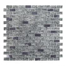 TI Metallic 12 in. x 12 in. x 8 mm Glass Mosaic Tile