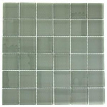 Contempo Seafoam 12 in. x 12 in. x 8 mm Polished Glass Mosaic Floor and Wall Tile