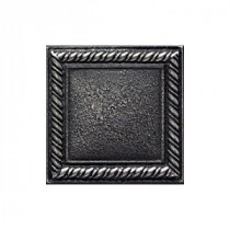 Ion Metals Antique Nickel 2 in. x 2 in. Composite of Metal Ceramic and Polymer Rope Accent Tile