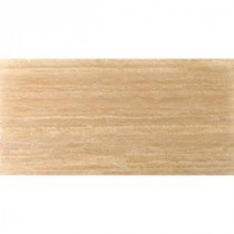 Trav Dore Select Plank Filled and Honed 6 in. x 24 in. Travertine Floor or Wall Tile