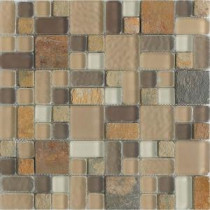 No Ka 'Oi Paia-Pa420 Stone And Glass Blend 12 in. x 12 in. Mesh Mounted Floor & Wall Tile (5 sq. ft. / case)