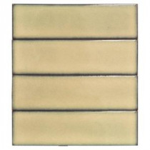 Vintage Khaki Ceramic Mosaic Floor and Wall Tile - 3 in. x 9 in. Tile Sample