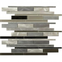 Urban Platinum 12 in. x 12 in. x 8 mm Metal Mosaic Tile