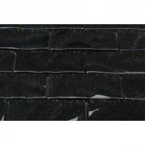 Glitter Nero 11-1/2 in. x 11-3/4 in. x 8 mm Glass Mosaic Tile