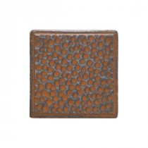Castle Metals 2 in. x 2 in. Wrought Iron Metal Insert B Accent Wall Tile