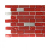 Bloody Mary Brick Glass Tile - 3 in. x 6 in. x 8 mm Tile Sample