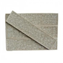 Roman Selection Iced Tan 2 in. x 8 in. x 9 mm Glass Mosaic Tile