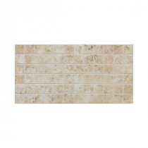 Fidenza Bianco 12 in. x 24 in. x 8 mm Porcelain Mesh-Mounted Mosaic Floor and Wall Tile (24 sq. ft. / case)
