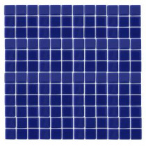 Monoz M-Blue-1402 Mosaic Recycled Glass 12 in. x 12 in. Mesh Mounted Floor & Wall Tile (5 sq. ft. / case)