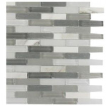 Cleveland Severn Mini Brick 3 in. x 6 in. x 8 mm Mixed Materials Mosaic Floor and Wall Tile Sample