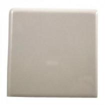 Semi-Gloss Almond 4-1/4 in. x 4-1/4 in. Ceramic Bullnose Outside Corner Trim Tile