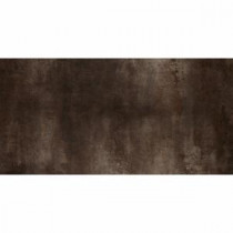 Vanity 12 in. x 24 in. Black Porcelain Floor and Wall Tile (11.63 sq. ft. / case)
