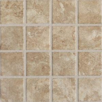 Del Monoco Carmina Beige 13 in. x 13 in. x 8 mm Porcelain Mosaic Floor and Wall Tile
