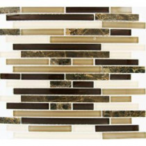 12 in. x 12 in. Royal Oaks Mesh-Mounted Mosaic Tile