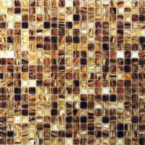 Breeze Rusty Leaves 12-3/4 in. x 12-3/4 in. x 6 mm Glass Mosaic Tile