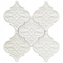 Vintage Florid Lantern White 6-1/4 in. x 7-1/4 in. x 8 mm Ceramic Wall Mosaic Tile (5 Tiles Per Unit)