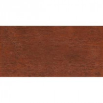 Riflessi di Legno 23-7/16 in. x 5-13/16 in. Cherry Porcelain Floor and Wall Tile (9.46 sq. ft. / case)