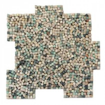 Palazzo Nettuno 12 in. x 12 in. x 6.35 mm Decorative Pebble Mosaic Floor and Wall Tile (10 sq. ft. / case)