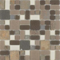No Ka 'Oi Wailea-Wa420 Stone And Glass Blend 12 in. x 12 in. Mesh Mounted Floor & Wall Tile (5 sq. ft. / case)