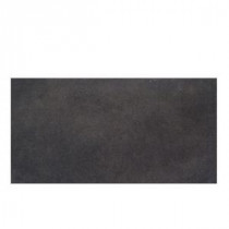 Veranda Gunmetal 4 in. x 20 in. Porcelain Surface Bullnose Floor and Wall Tile