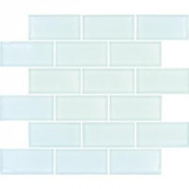 Arctic Ice Subway 12 in. x 12 in. x 8 mm Glass Mesh-Mounted Mosaic Tile