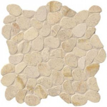 Coastal Sand Pebble 12 in. x 12 in. x 10 mm Honed Limestone Mesh-Mounted Mosaic Tile (10 sq. ft. / case)
