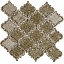 Roman Selection Iced Gold Lantern 9-3/4 in. x 10-1/2 in. x 8 mm Glass Mosaic Tile