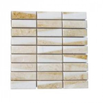 Great Ulysses 3 in. x 6 in. x 8 mm Marble Mosaic Floor and Wall Tile Sample