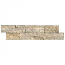 Tuscany Ivory Ledger Panel 6 in. x 24 in. Natural Quartzite Wall Tile (10 cases / 60 sq. ft. / pallet)