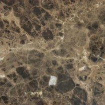 Emperador Dark 12 in. x 12 in. Polished Marble Floor and Wall Tile (10 sq. ft. / case)