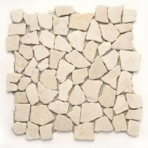 Indonesian Jakarta Moon 12 in. x 12 in. x 6.35 mm Natural Stone Pebble Mesh-Mounted Mosaic Tile (10 sq. ft. / case)