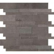 Neptune 3D 12 in. x 12 in. x 10 mm Honed Basalt Mesh-Mounted Mosaic Tile (10 sq. ft. / case)