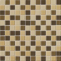 Isis Cream Blend 12 in. x 12 in. x 3 mm Glass Mesh-Mounted Mosaic Wall Tile