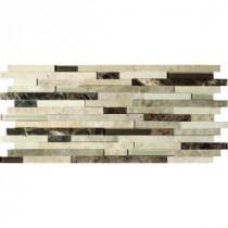Ashlar Rock Interlocking 8 in. x 18 in. x 8 mm Glass Stone Mesh-Mounted Mosaic Tile