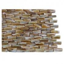 Baroque Pearl 3D Brick Pattern Mosaic - 3 in. x 6 in. Tile Sample