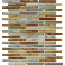 Fashion Accents Illumini Lake 12 in. x 12 in. x 8mm Random Porcelain Mosaic Wall Tile