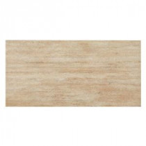 Travertino Ocra Porcelain Floor and Wall Tile - 12 in. x 24 in. Tile Sample