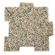 Palazzo Fortuna 12 in. x 12 in. x 6.35 mm Decorative Pebble Mosaic Floor and Wall Tile (10 sq. ft. / case)