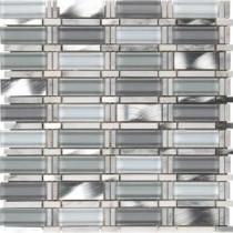 Icelandic Blend Pattern 12 in. x 12 in. x 8 mm Glass Metal Stone Mesh-Mounted Mosaic Tile