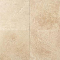 Travertine Mediterranean Ivory 12 in. x 12 in. Natural Stone Floor and Wall Tile (10 sq. ft. / case)