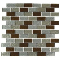 Metallic Ale Blend 12 in. x 12 in. x 8 mm Glass Mosaic Floor and Wall Tile