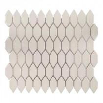 Dovetail Cream 10-3/4 in. x 12-1/8 in. x 8 mm Ceramic Mosaic Tile