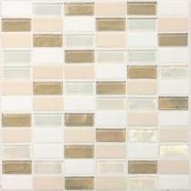 Coastal Keystones Coconut Beach 12 in. x 12 in. x 6 mm Glass Mosaic Floor and Wall Tile