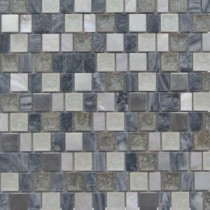 Charm II Rocky 12 in. x 12 in. x 8 mm Glass and Stone Mosaic Tile