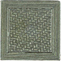 Montagna Nickel 2 in. x 2 in. Metal Resin Basketweave Decorative Floor/Wall Tile
