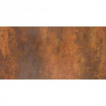 Vanity 12 in. x 24 in. Rust Porcelain Floor and Wall Tile (11.63 sq. ft. / case)