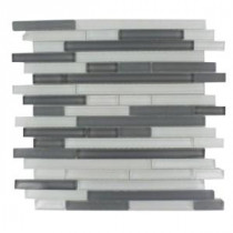 Temple Midnight 12 in. x 12 in. x 8 mm Glass Mosaic Floor and Wall Tile