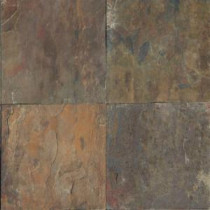 Rustique Earth 16 in. x 16 in. Gauged Slate Floor and Wall Tile (8.9 sq. ft. / case)