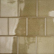 Roman Selection Iced Gold 4 in. x 4 in. x 8 mm Glass Mosaic Tile