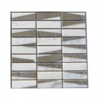 Great Charlemagne 3 in. x 6 in. x 8 mm Marble Mosaic Floor and Wall Tile Sample